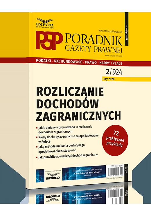 Publikacja dla uzyskujących dochody zagraniczne